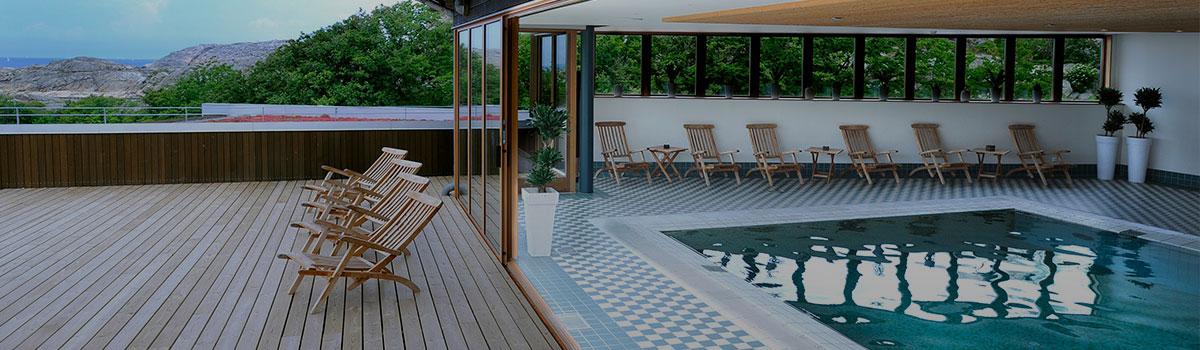 Spa och pool på hotell Smögen Hafvsbad spaavdelning