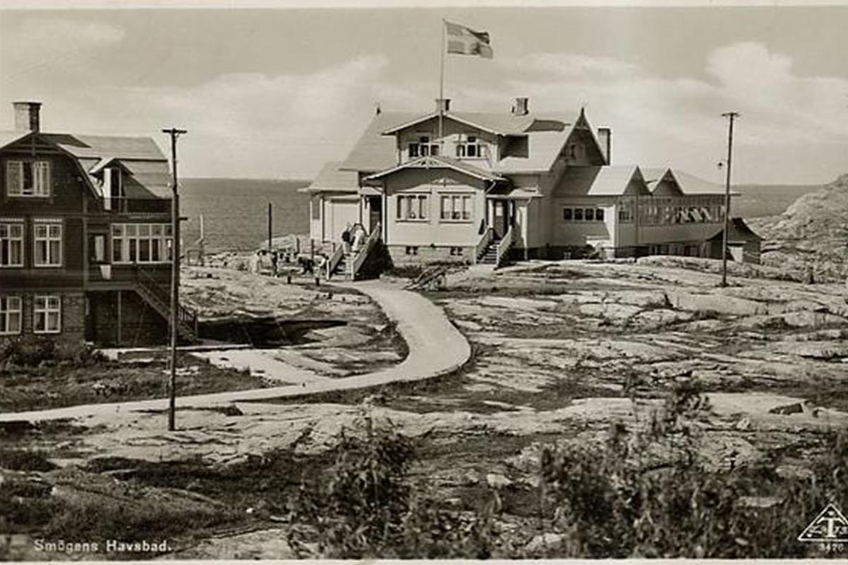 historisk bild på Smögens Hafvsbad