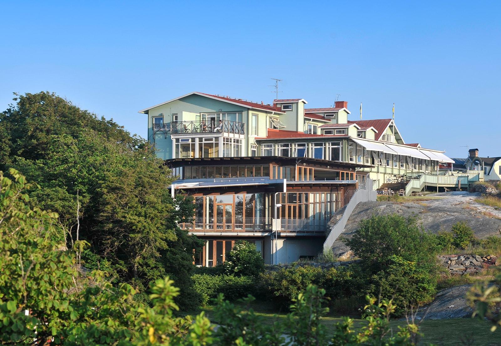 Smögens hafvsbad hotell fasad