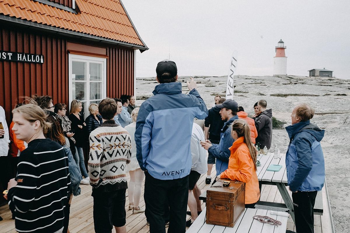 Företagsaktiviteter under en konferens på Smögens Hafvsbad