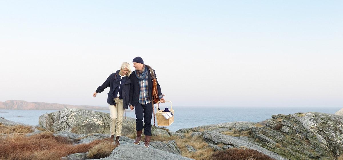 Promenad på klippformation på Smögen