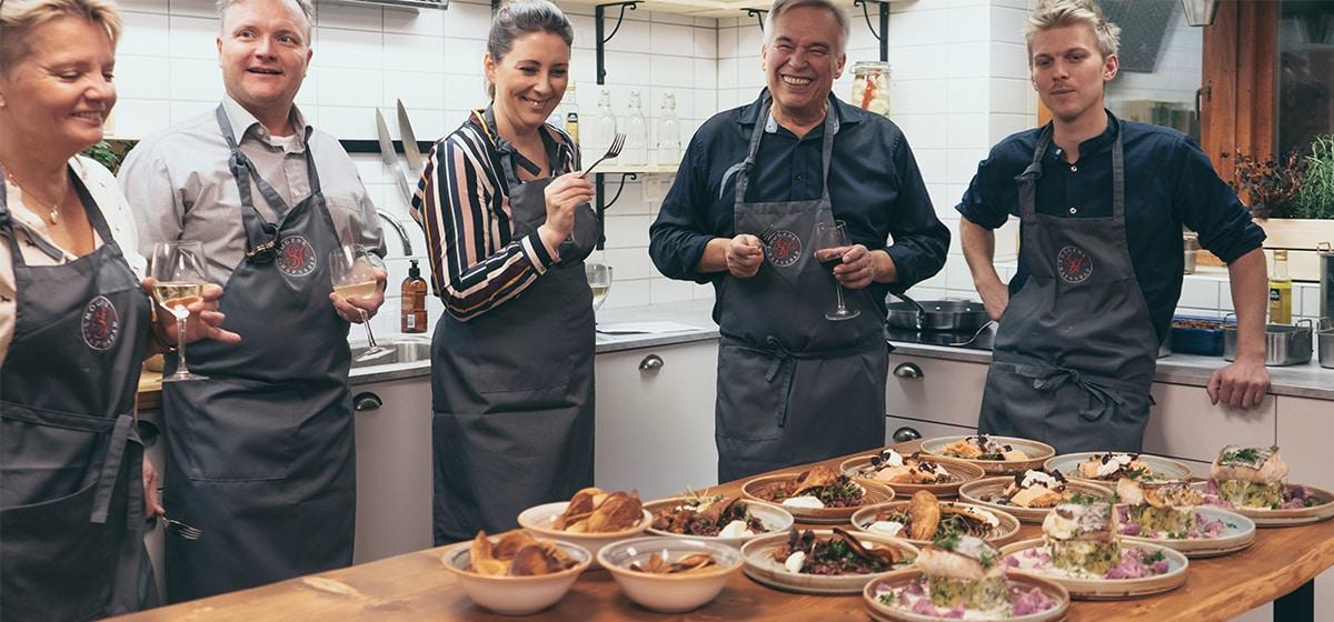 Matlagningsstudio på Smögens Hafvsbad. Konferens på Smögen