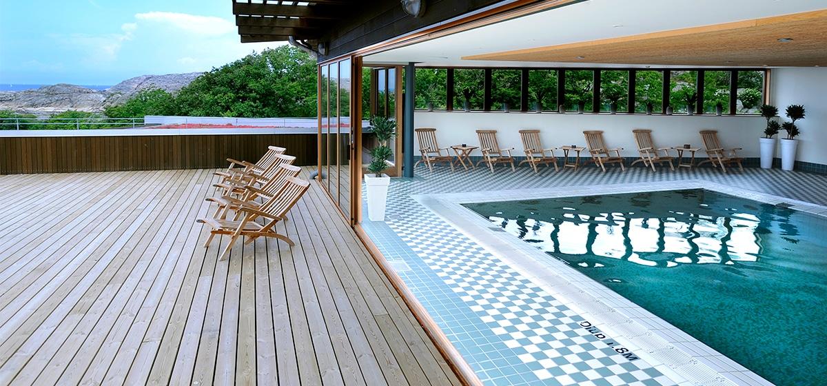 Spa och pool på Smögens Hafvsbad, Aftonbris, Morgonsol, Heldagsnjutning